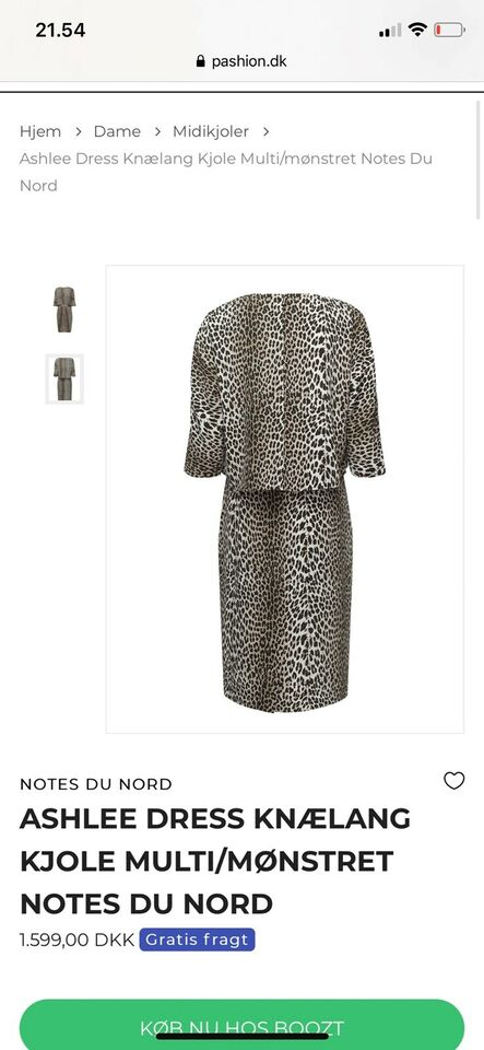 NOTES DU NORD kjole Ashlee Dress, Leopard
