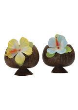 Deluxe Hula Coco Cóctel Taza Con Flor Colores Surtidos un solo artículo
