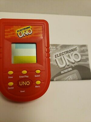 Mattel 2001 Tested and Works Pre-owned Electronic Uno Handheld Game