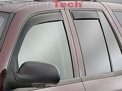 WeatherTech Window Deflectors - Chevrolet TrailBlazer - 2002-2009 - Dark Tint