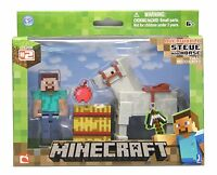 Minecraft Steve with White Horse Action Figure, New, Free Shipping
