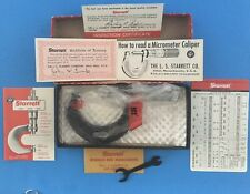 New Listingnew Starrett 436 2 Inch Outside Caliper Box Papers And Wrench Still In Plastic