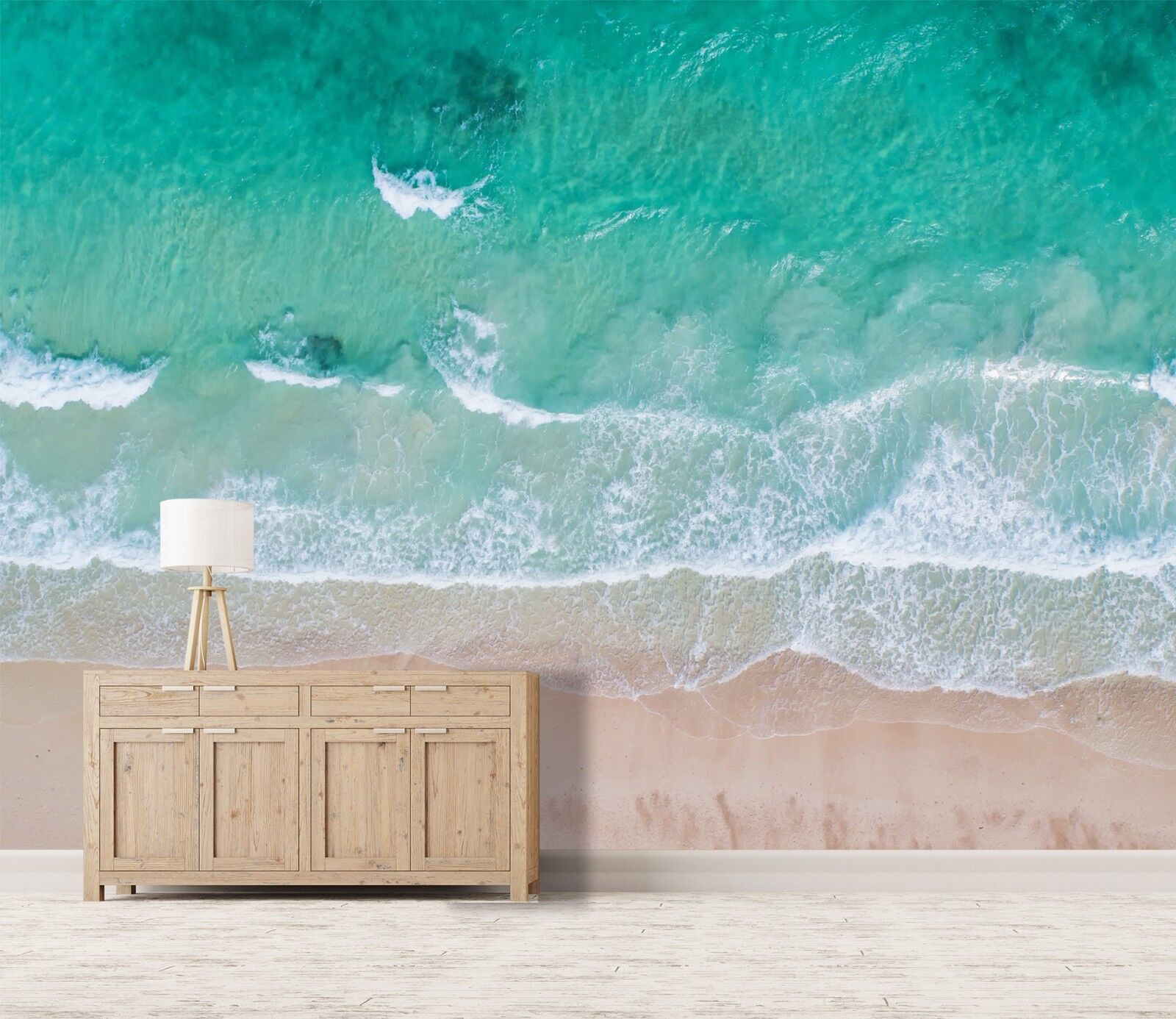 3D Surfing Sand Beach 4 Wall Paper Wall Print Decal Wall Deco Indoor Wall Murals