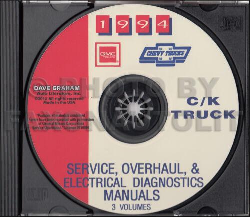 1994 Chevy CK Truck Shop Manuals on CD Cheyenne Silverado Pickup Blazer Suburban
