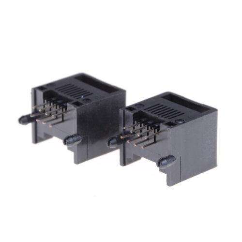 10Pcs Unshielded RJ11 RJ45 8P8C Network Modular PCB Connector JackHK