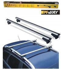 2 M-Way 135cm 90kg Locking Aluminium Car Roof Rack Rail Bars for Nissan Qashqai