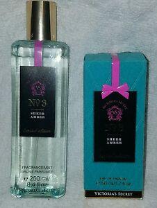 Victoria-039-s-Secret-No-3-Sheer-Amber-fragrance-mist-8-4-oz-amp-Parfum-1-7-oz-rare