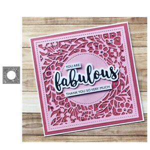 Stanzschablone-Quadrat-Blume-Hochzeit-Weihnachts-Oster-Geburtstag-Karte-Album