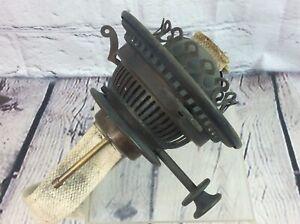 Antique Brass Hinks No2 Duplex Oil Lamp Burner Rise Fall Free Uk Delivery Ebay