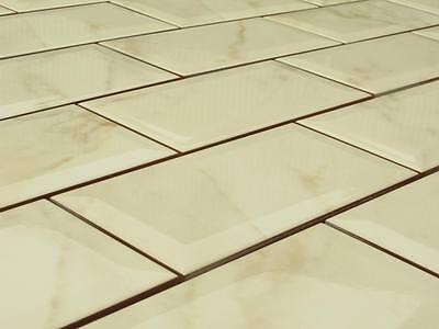 Wandfliesen Metro 20x10 beige-marm Wand-Fliesen mit Facette Facetten-Fliesen