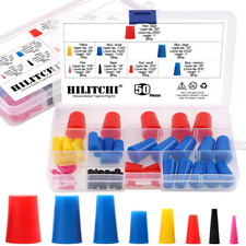 Hilitchi 50 Pcs 116 To 58 Silicone Rubber Plug Kit Tapered Stopper Plugs