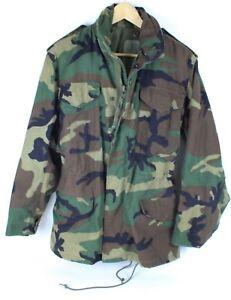 Alpha-Industries-US-ARMY-M-65-FIELD-JACKET-WOODLAND-CAMOUFLAGE-sz-X-SMALL
