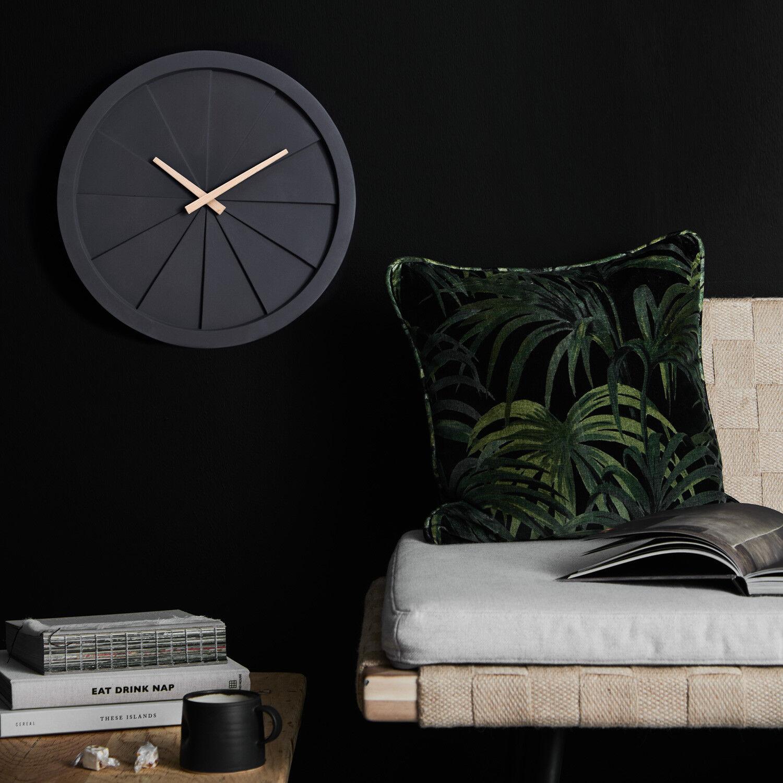 NeXtime Wanduhr BASIC DOME Ø35,6cm lautlos Wohnzimmer Küche Uhr Quarzuhr