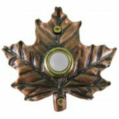 Lighted Decorative Doorbell ( Bronze Plated Maple Leaf Doorbell)