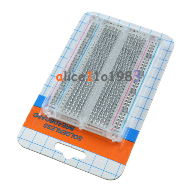 Universal Mini Solderless Breadboard Transparent Material 400 Points Available