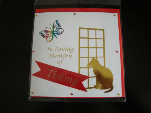 2019 Personalised Pet deuil Carte Perte De sympathie en mémoire chat//chaton