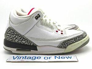 Image is loading Nike-Air-Jordan-III-3-White-Cement-Retro-