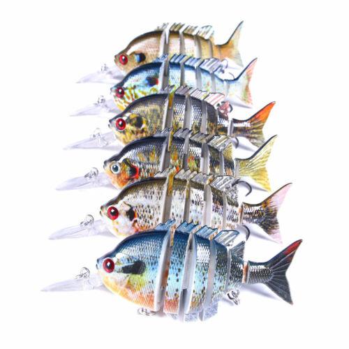 10cm//14g Multi Jointed Fishing Lures Swimbait Sinking Wobblers Crankbait Bait