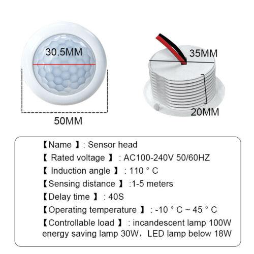 PIR Motion Sensor Switch Light Human Body Infrared Sensor Control Lamp 1//4PCS
