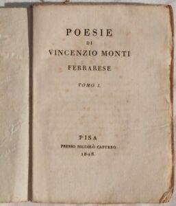 VINCENZO-MONTI-IN-MORTE-DI-UGO-BASS-VILLE-OPERE-SONETTI-TRAGEDIE-1808-1821-PISA