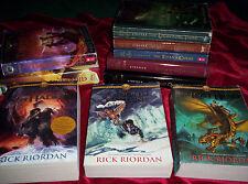 Lot of 10 HB/PB Rick Riordan Percy Jackson Heroes of Olympus Kane Chronicles