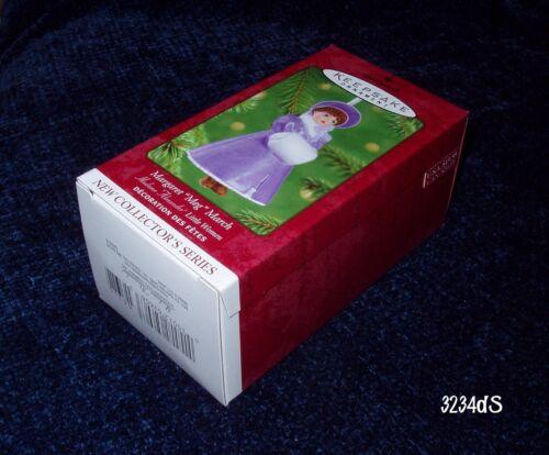 "NEW 2001 Hallmark MARGARET /""MEG/"" MARCH #1 Madame Alexander Little Women Ornament"
