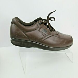 sas time out brown leather casual comfort lace up sneakers