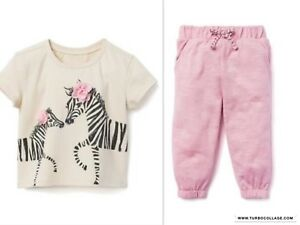 NWT-GYMBOREE-GIRLS-ZEBRA-TOP-WITH-LIGHTWEIGHT-PANTS-SIZES-12-18-MTHS-2T-3T-4T