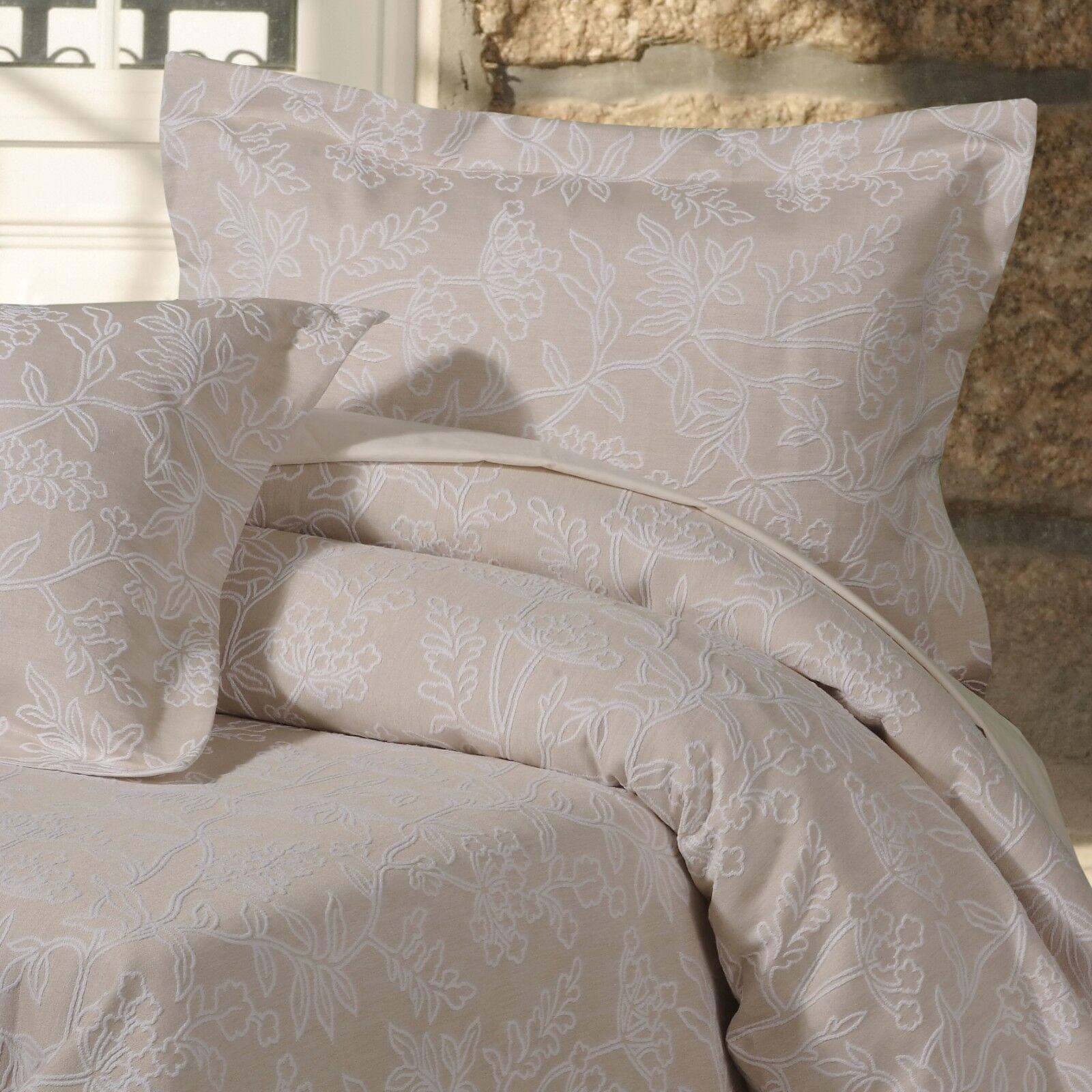 Elegant Luxury Floral Woven Jacquard 100% Pure Cotton Bed Linen Duvet Cover Set