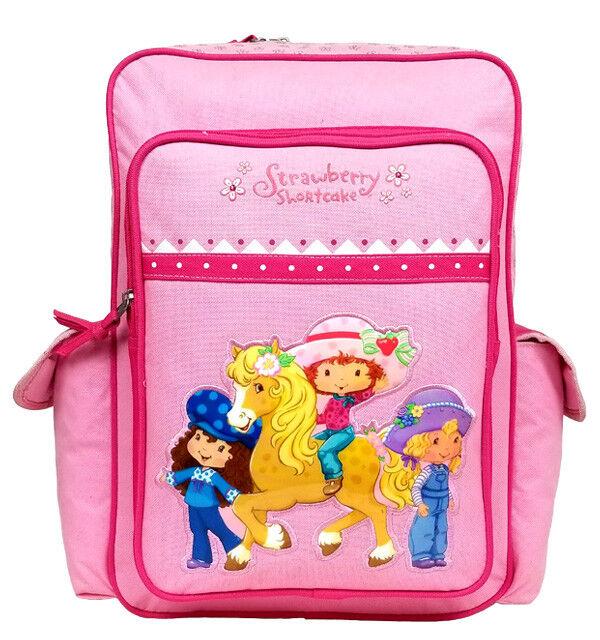 5f72e2d685 Strawberry Shortcake Pink Girls Large Backpack school Book Bag for Kids for  sale online