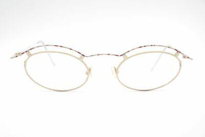 100% Vero Vintage Gimop 001 44 [] 14 135 Oro Ovale Occhiali Eyeglasses Nos-