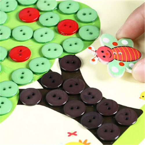 1Pc DIY Button Drawing Painting Interactive Material Kids Educational ToysF9