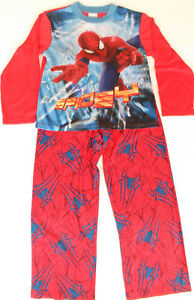 Marvel-Spider-man-Boys-2-Piece-Pajama-Set-100-Polyester-Size-8-NWT