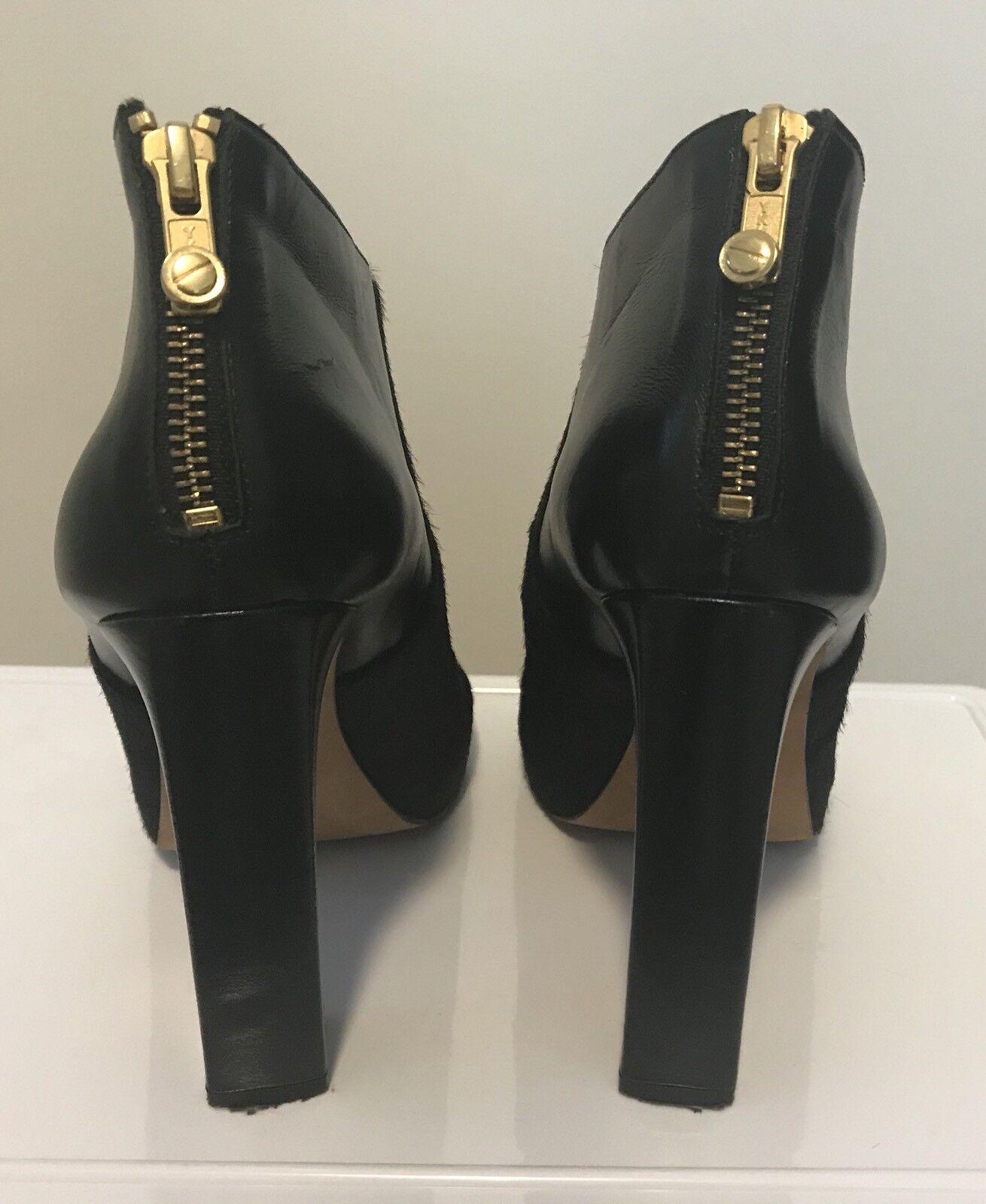 Kat Maconie Black Leather Peep Toe Toe Toe shoes Boots d75773