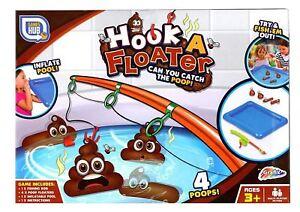 Grafix Hook a Floater Childrens Poo Fishing Bath Tub Novelty Floating Poop Game
