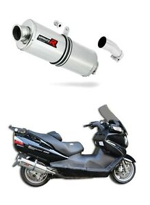 DOMINATOR-Exhaust-silencer-muffler-OVAL-SUZUKI-BURGMAN-650-13-db-killer