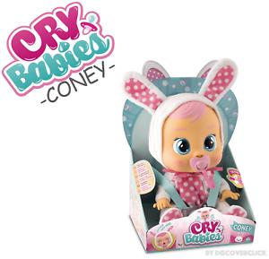 Nuevo llorar a los bebés Coney Bebé Muñeca Niñas Juguete Bunny-IMC Toys AAA pilas incluidas