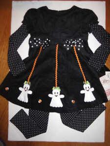6959b4f9bef Image is loading Bonnie-Jean-Girls-Black-white-2Pc-Halloween-corduroy-