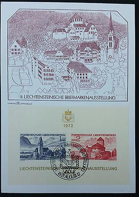 Block 9 Liba '72 Maximumkarten Mk Volumen Groß Liechtenstein Mi.-nr