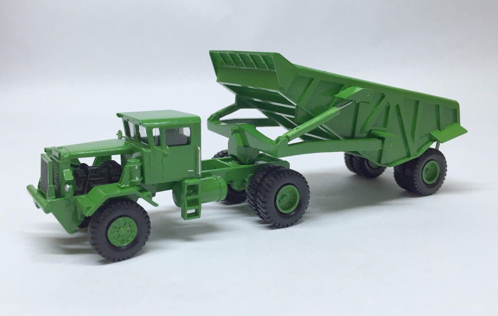 Fertig Resin HO 1 87 KW Dart 50 EDT Rear Dump Trailer - green - Fankit Models