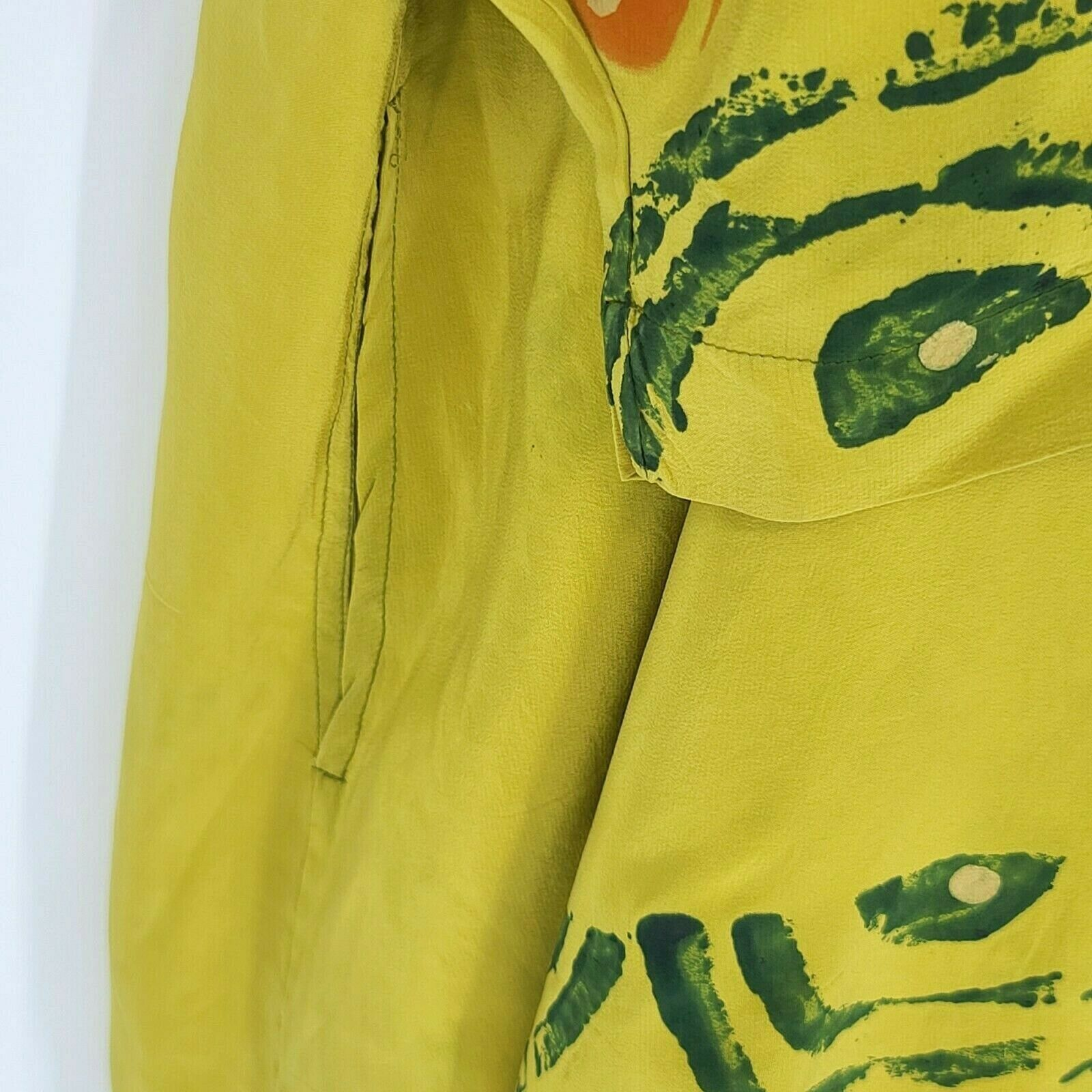 Laise Adzer Womens Vintage 1980's Hand Painted Si… - image 11