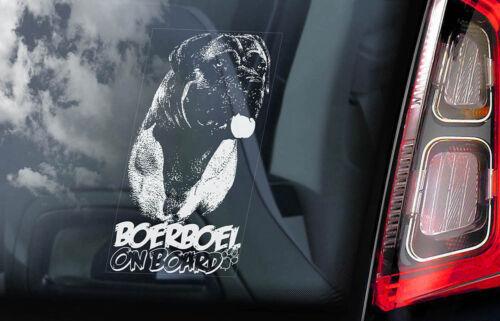 Boerboel on Board V07 South African Mastiff Dog Decal Car Window Sticker