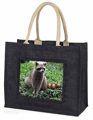 Waschbär Lemur große schwarze Einkaufstasche Weihnachten Geschenkidee, arl-1blb