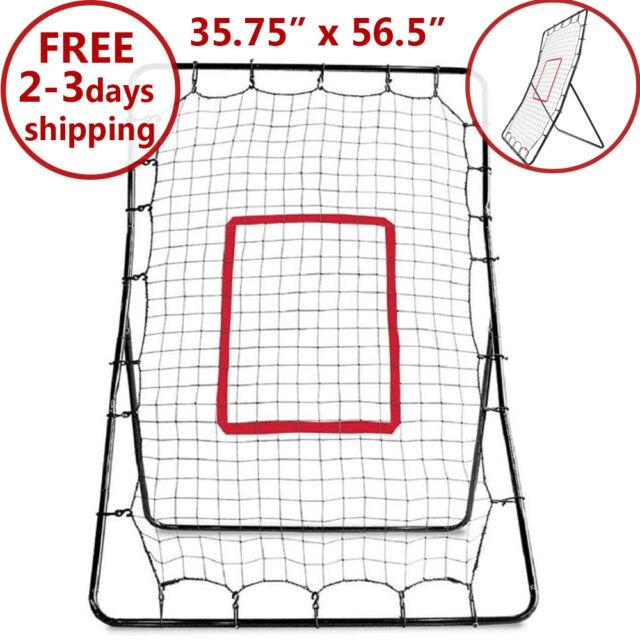 "Baseball Pitch Back Pitchback Net Rebounder Rebound Trainer Fielding 56/"" X 36/"""