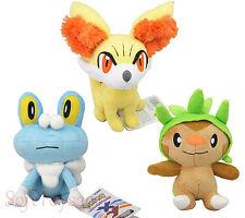 "Pokemon Go X / Y ''Chespin Fennekin 6.5"" Froakie Plush Soft Doll Ride US Ship DO"