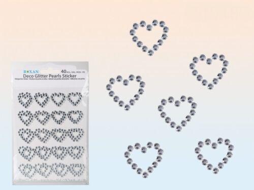 Dekoherzen glitzerherzen perlas sticker corazones brillo glitterherzen 40 trozo