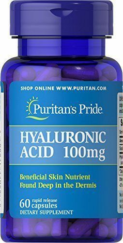 Puritans Pride Hyaluronic 100 Mg X60 Capsules Beneficial Skin Joint Lubrication