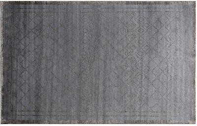 Handmade Modern 100/% viscose designer area rug Gray