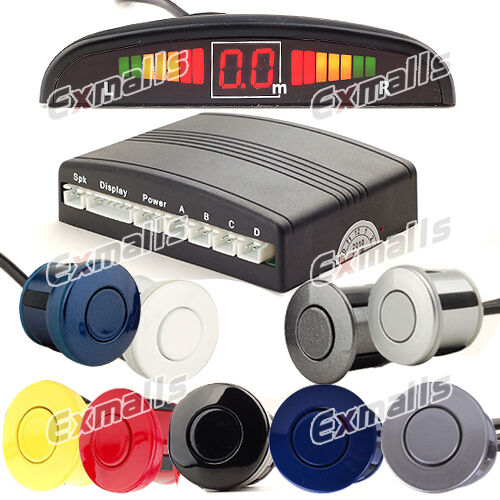 Einparkhilfe 4 Sensoren hinten Parkhilfe/Rückfahrwarner PDC Display 9 Farben