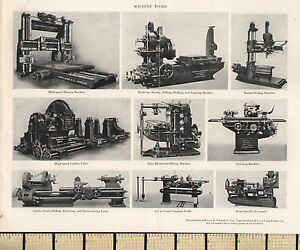 1927-PRINT-MACHINE-TOOLS-TURBINE-LATHE-GRINDING-MACHINE-ACME-SPINDLE